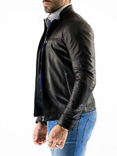 ★Giacca Giubbotto Uomo in di PELLE 100% Men Leather Jacket Veste Homme Cuir Q48a