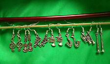 Silver Plated Earrings Orchestra / Jazz Musical Instrument