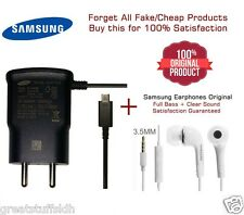 100% Original Samsung Earphone and Charger EP-TA60IBE 0.7A with Micro USB Cable
