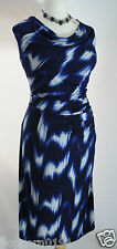 New Planet Jersey Dress Uk 20 deep Blue navy Diamond side ruched Party rrp £99