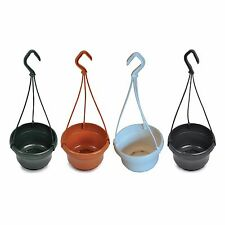 5 x Liliane 14cm Hanging Plant Pots Baskets. Available in 4 colours.
