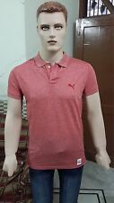 Puma Solid Men's Polo T-Shirt @ Discounted Price (Barberry Red)