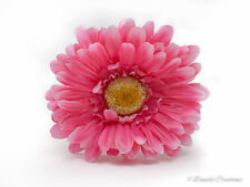Silk Gerbera in Hot Pink, Single Stem with 10cm Head, Weddings, Fish Bowl, Vase