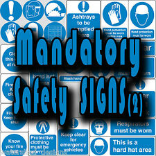 Mandatory safety signs, PPE, Close Door Keep Clear Vinyl wall stickers signs (2)