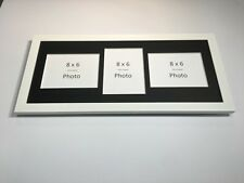 Multi App Photo Frame White-Holds 3 x 8''X6'' Choose from 4 mount colours