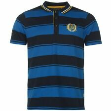 Everlast Mens Yarn Dye Bold Stripe Polo Shirt Navy/Blue New