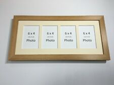 Multi App Photo Frame Oak-Holds 4 x 6''X4'' Choose from 4 mount colours