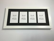 Multi App Photo Frame White-Holds 4 x 6''X4'' Choose from 4 mount colours