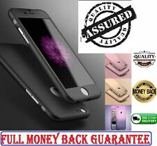 Case Cover For iPhone 6 6S P  Hybrid 360° Hard Ultra thin Case + Tempered Glass