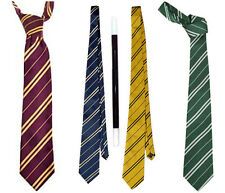 Fancy Dress Harry Potter Ties Wand House Colour Slytherin Gryffindor Book Day