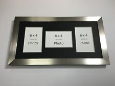 Multi App Photo Frame Silver-Holds 3 x 6''X4'' Choose from 4 mount colours