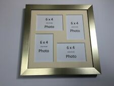 Multi App Photo Frame Gold-Holds 4 x 6''X4'' Choose from 4 mount colours