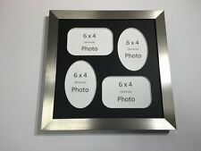 Multi App Photo Frame Silver-Holds 4 x 6''X4'' Choose from 4 mount colours