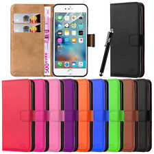 Apple iPhone 7 & 7 Plus Wallet Flip Leather Book Card Slots Case Cover Pouch