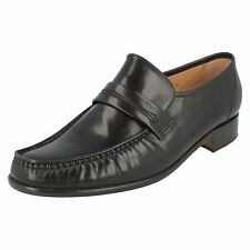 GRENSON DA UOMO MARRONE SCURO SLIP ON SCARPA IN PELLE WATFORD