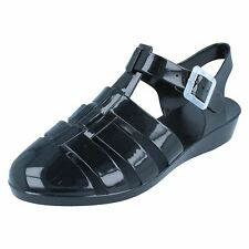 da donna Nero Casual JELLY SANDALI stile - F10320