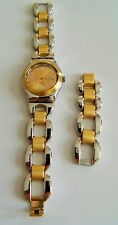 Swiss Swatch Elegant Stylish Lady Solid Stainless Steel Quartz Bracelet Watch