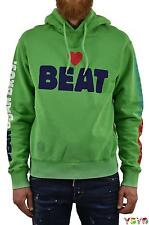 Dsquared2 DS2 Uomo Felpa Beat Blu/Verde - tg. S/M - Made in Italy