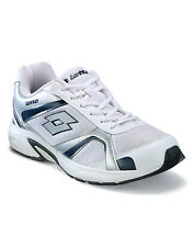 Lotto White/Navy Mesh & Synthetic Sports Shoes For Men (AR3252)