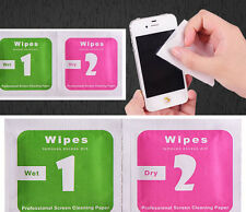 * FOR APPLE iPHONE 7 * DAILY USAGE SCREEN & PHONE CLEANING WIPES -DRY & WET