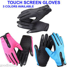 NEW Sports Cycling Bike Bicycle Full Finger Comfy Gloves - Touch Screen