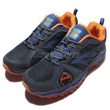 Hi-Tec Haraka Trail S Grey Navy Orange Mens Running Shoes Outdoors Trainers