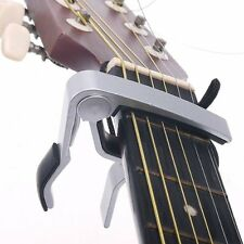 OBOSS Acoustic Classic Electric Quick Change Guitar Clamp Keys Capo Silver