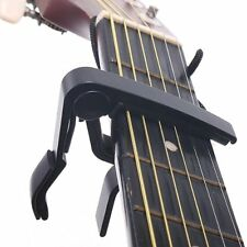 OBOSS Acoustic Classic Electric Quick Change Guitar Clamp Keys Capo Black