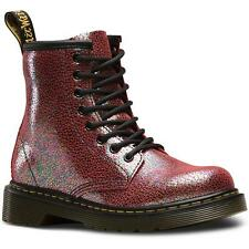 Dr Martens Delaney Junior Pink Sparkly Leather Ankle Boots