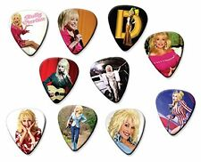 Dolly Parton (Code A5) Set of 10 Electric Acoustic Guitar Plectrums