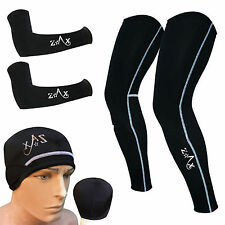 Cycling Leg Warmers & Arm Warmers & Skull Cap Winter Cycling Clothing