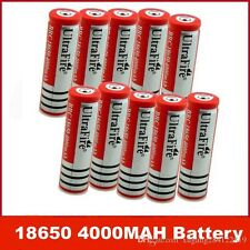 10 Pcs 18650 4000mah 3.7v Battery Rechargeable Flashlight Laser Torch Led FlashA