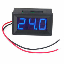 New Mini Blue Red Green LED Digital Volt Meter Voltmeter Panel DC 4.5-30V UK