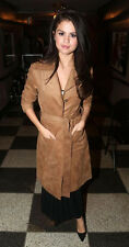 H&M Trend Imitation Suede Trench Coat Jacket UK 10 EU 36 US 6 Celebrity Bloggers
