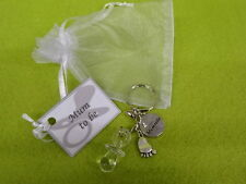 Mum Or Dad To Be Charm Gift Baby Feet Large Dummy Heart Organza Bag Baby Shower