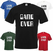 Game Over Camiseta Cool divertido retro consola juegos Broma Regalo Navidad