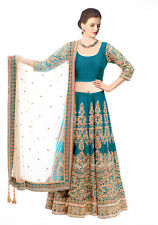 Bollywood Inspired : Bridal Wear Rama Lehenga Choli - 60125B