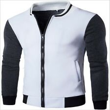 New  Solid Fashion Casual Slim Stand Collar Jacket Mens bomber jacket