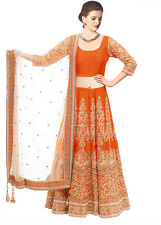 Bollywood Inspired : Ethnic Wear Orange Lehenga Choli - 60125E