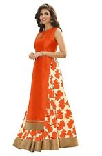 Bollywood Inspired : Ethnic Wear Orange Indo Westrn Lehenga - 60130E