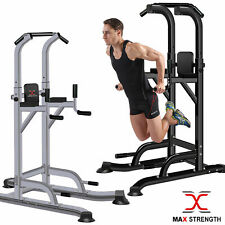 Chin Pull Up Power Tower Dipping Station Abs Crunch Leg Sit Ups Dips Workout gym