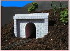 Tunnel Portal. Single or Double - Model Railway - HO/OO, N, Card Kit