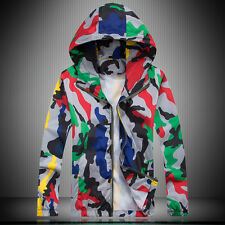 New Men'S Camouflage Coats Mens Outside Casual Coat With Pocket Hooded Military1