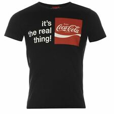Mens Coca Cola Print T-Shirt Black New With Tags