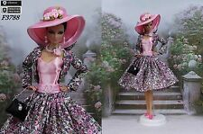 "Outfit "" Clotilde "" Robe Barbie Silkstone Fashion Royalty"