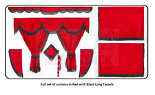 Full set of lined Truck curtains in RED