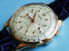 SPLENDID VETTA SOLID ROSE GOLD 18K VALJOUX CAL 22 COLUMN WHEEL CHRONOGRAPH