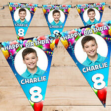 Personalised 1st 3rd 4th 5th 6th 8th 10th Happy Birthday Flag Banner Bunting N65