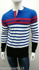 LP (Louis Philippe) Full Sleeves Stripes Men's Henley Neck Tshirts