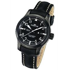 Fortis Herrenuhr Aviation B-42 Flieger Black Day/Date Automatik 655.18.81 L